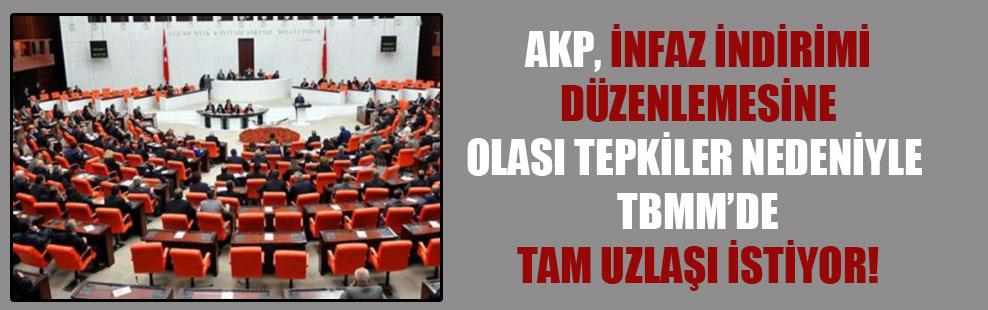 AKP, infaz indirimi düzenlemesine olası tepkiler nedeniyle TBMM'de tam uzlaşı istiyor!