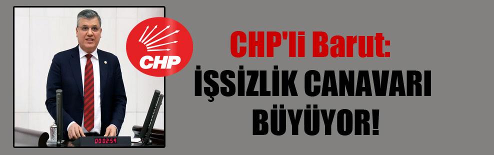 CHP'li Barut: İşsizlik canavarı büyüyor!
