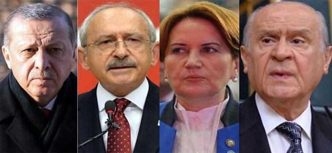 Erdoğan, Kılıçdaroğlu, Akşener ve Bahçeli'yi aradı