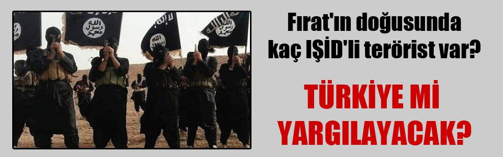 Fırat'ın doğusunda kaç IŞİD'li terörist var?