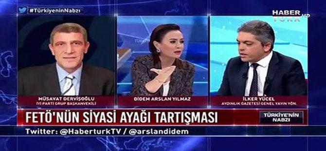 Aydınlık Genel Yayın Yönetmeni canlı yayında Meral Akşener ile Gülen'in yan yana gösterildiği fotoğrafı gerçek gibi sundu
