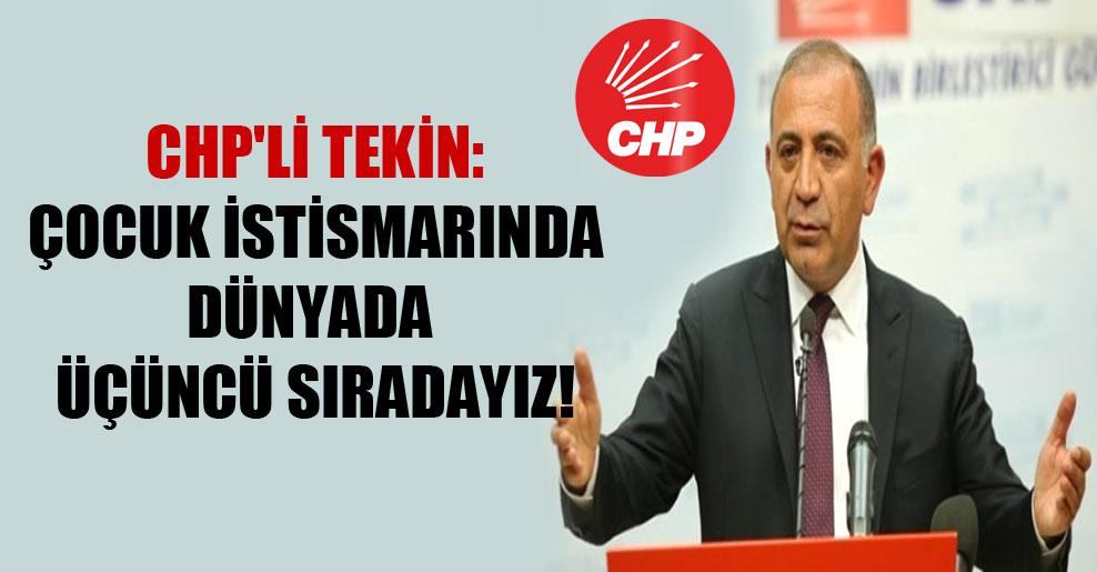 CHP'li Tekin: Çocuk istismarında dünyada üçüncü sıradayız!