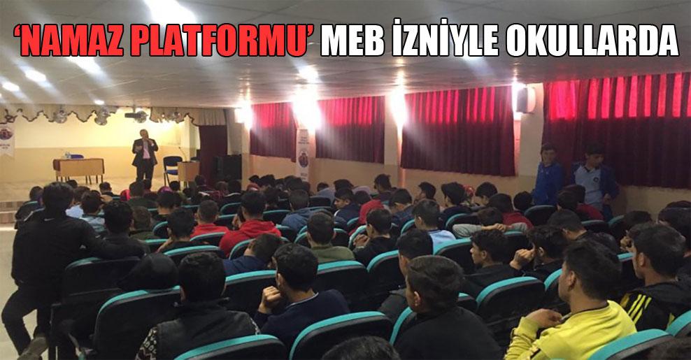 'Namaz Platformu' MEB izniyle okullarda