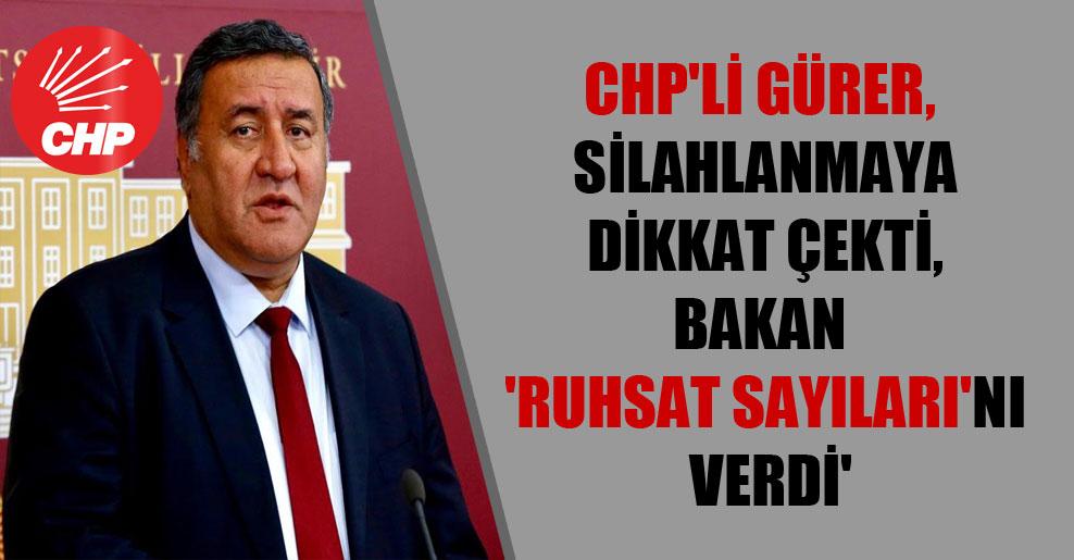 CHP'li Gürer, silahlanmaya dikkat çekti, Bakan 'ruhsat sayıları'nı verdi'