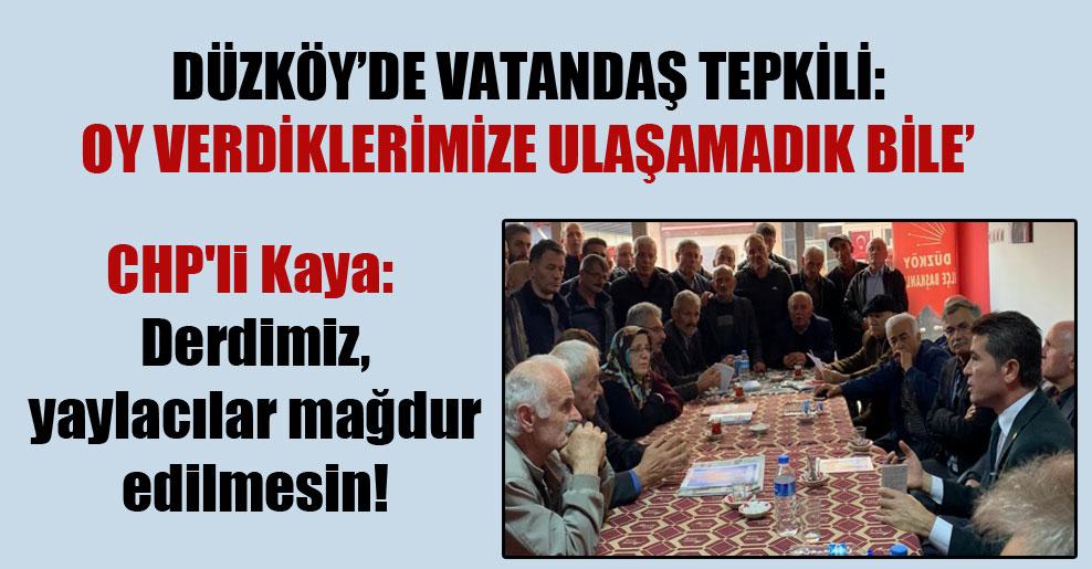 CHP'li Kaya: Derdimiz, yaylacılar mağdur edilmesin!