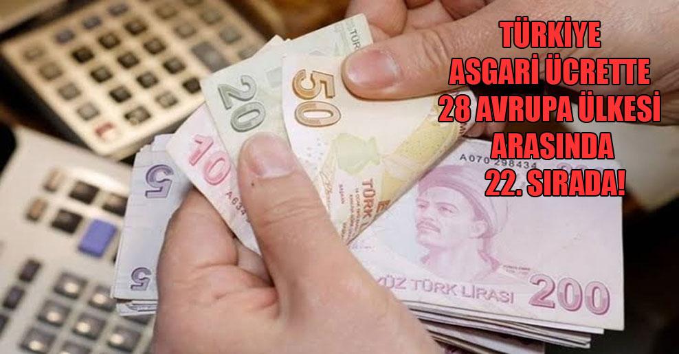 Türkiye asgari ücrette 28 Avrupa ülkesi arasında 22. sırada!