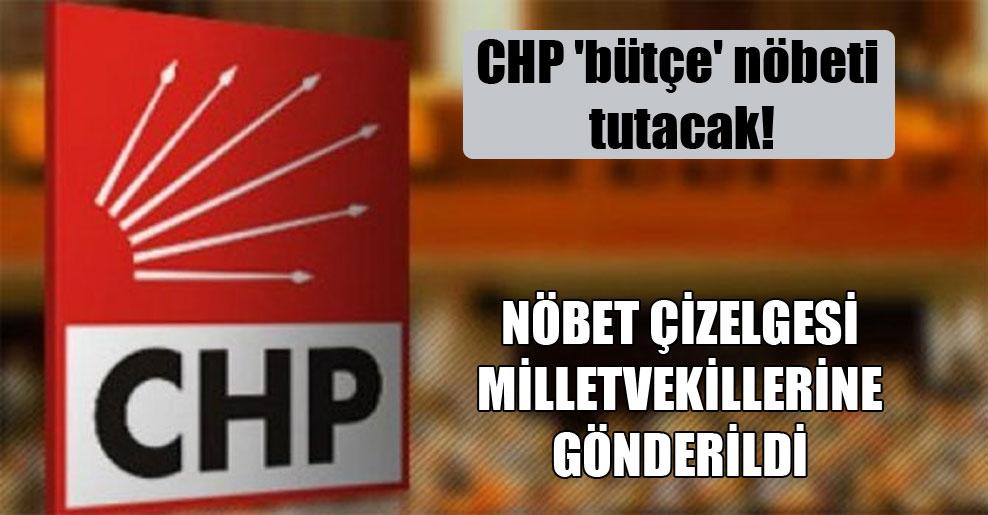 CHP 'bütçe' nöbeti tutacak!