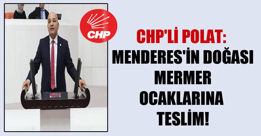 CHP'li Polat: Menderes'in doğası mermer ocaklarına teslim!