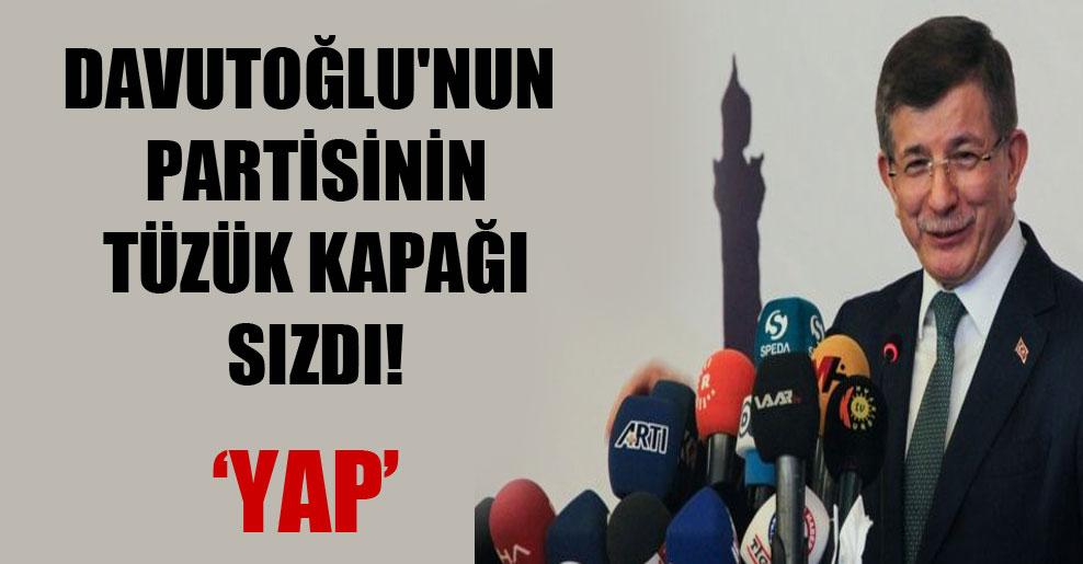 Davutoğlu'nun partisinin tüzük kapağı sızdı!