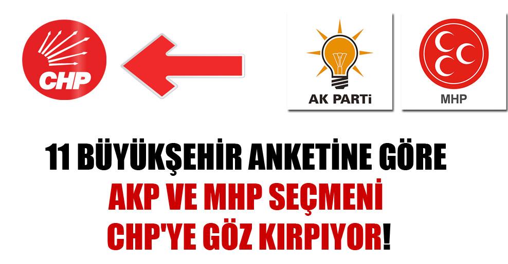 11 büyükşehir anketine göre AKP ve MHP seçmeni CHP'ye göz kırpıyor!