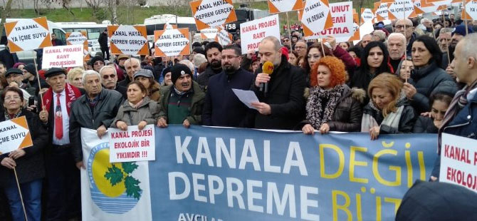'Avcılar'da Ya Kanal Ya İstanbul zinciri'