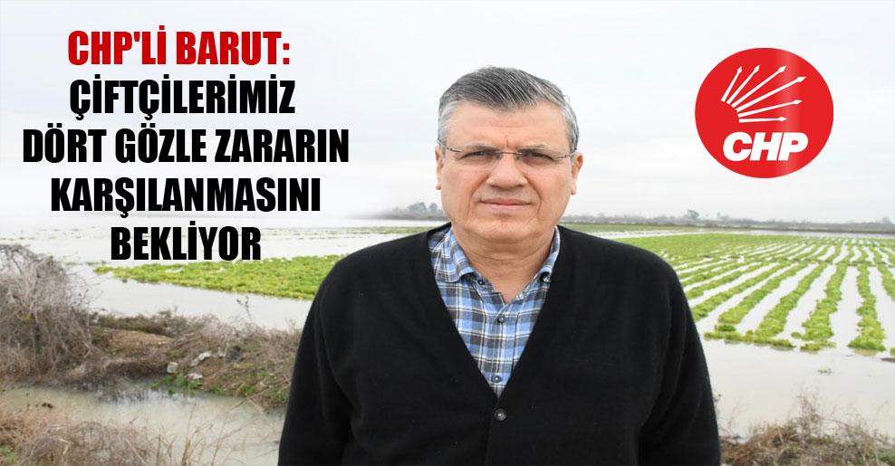 CHP'li Barut: Çiftçilerimiz dört gözle zararın karşılanmasını bekliyor