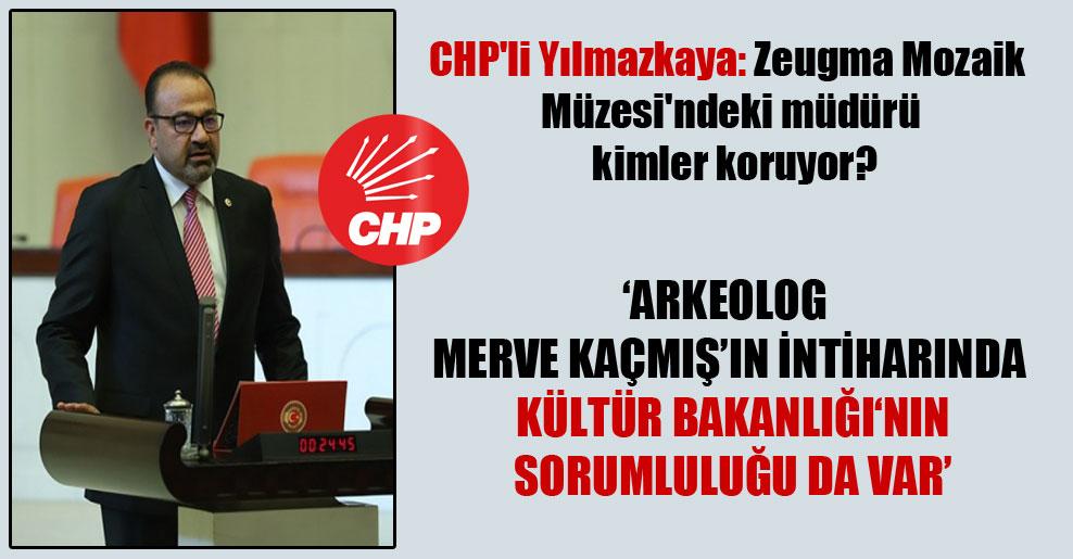 CHP'li Yılmazkaya: Zeugma Mozaik Müzesi'ndeki müdürü kimler koruyor?
