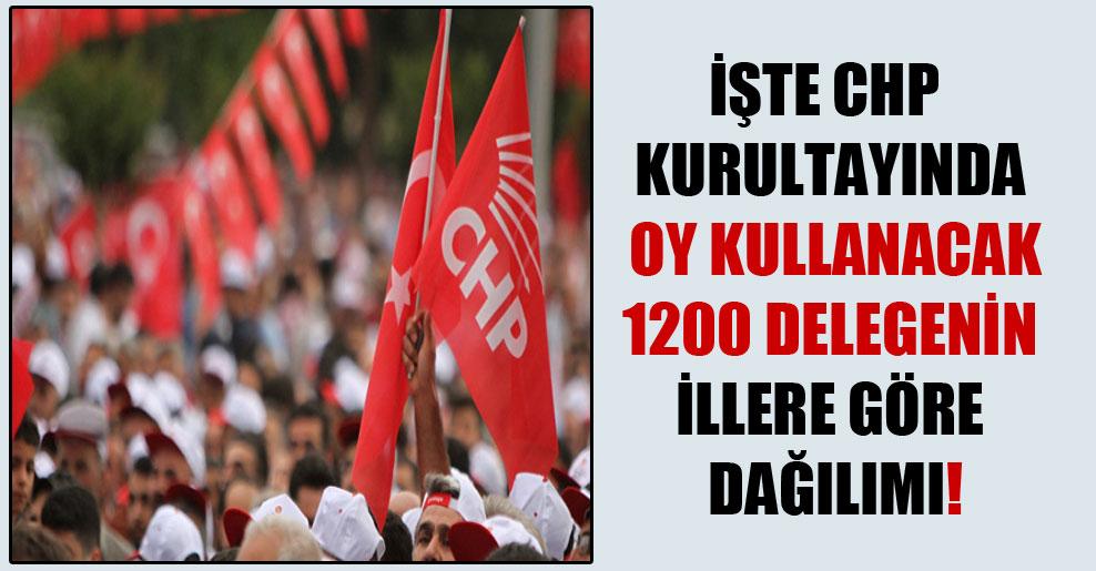 İşte CHP kurultayında oy kullanacak 1200 delegenin illere göre dağılımı!