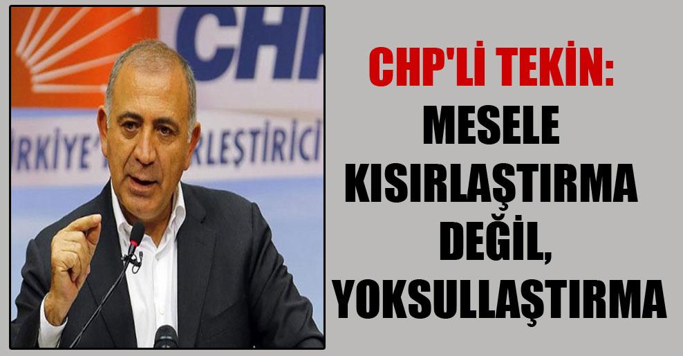 CHP'li Tekin: Mesele kısırlaştırma değil, yoksullaştırma