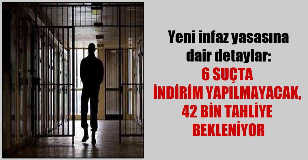 Yeni infaz yasasına dair detaylar: 6 suçta indirim yapılmayacak, 42 bin tahliye bekleniyor