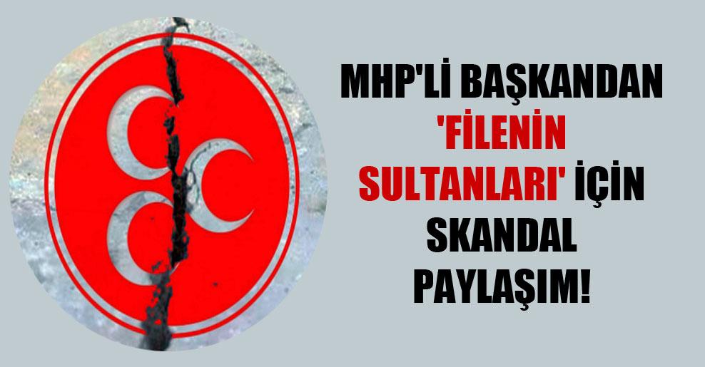 MHP'li başkandan 'Filenin Sultanları' için skandal paylaşım!
