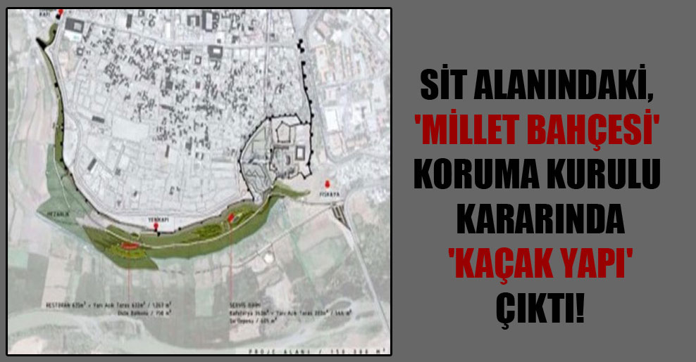 SİT alanındaki, 'Millet Bahçesi' Koruma Kurulu kararında 'Kaçak yapı' çıktı!