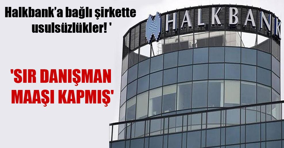Halkbank'a bağlı şirkette usulsüzlükler! 'Sır danışman maaşı kapmış'