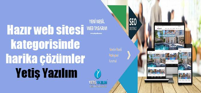 Hazır web sitesi kategorisinde harika çözümler Yetiş Yazılım