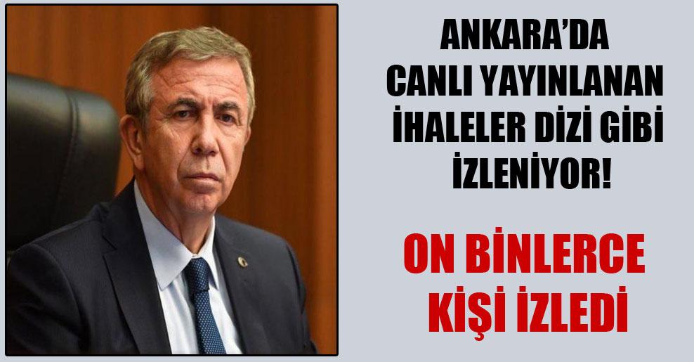 Ankara'da canlı yayınlanan ihaleler dizi gibi izleniyor!