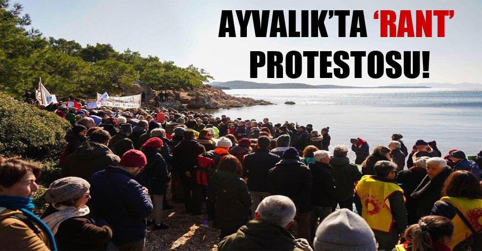 Ayvalık'ta 'rant' protestosu!