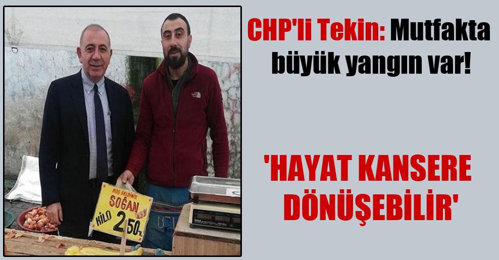 CHP'li Tekin: Mutfakta büyük yangın var! 'Hayat kansere dönüşebilir'