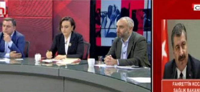 Halk TV'de bir ilk: AKP'li bakan canlı yayına bağlandı