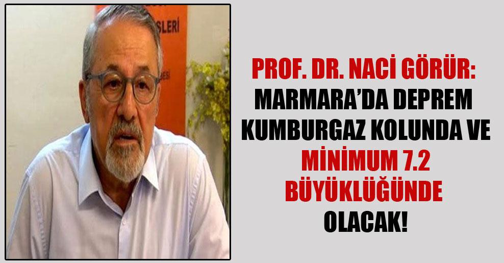Prof. Dr. Naci Görür: Marmara'da deprem Kumburgaz kolunda ve minimum 7.2 büyüklüğünde olacak!