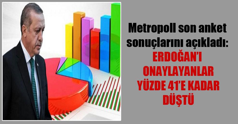 Metropoll son anket sonuçlarını açıkladı: Erdoğan'ı onaylayanlar yüzde 41'e kadar düştü