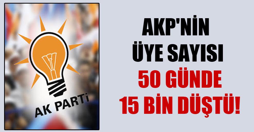 AKP'nin üye sayısı 50 günde 15 bin düştü!