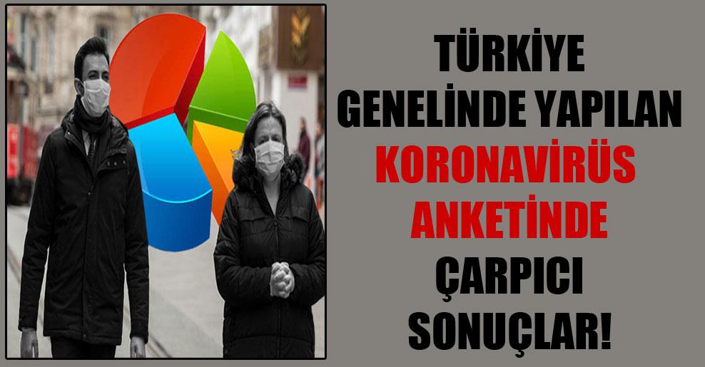 Türkiye genelinde yapılan koronavirüs anketinde çarpıcı sonuçlar!