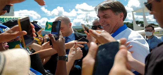 Salgını hafife alan Bolsonaro Twitter'ı da çileden çıkardı!