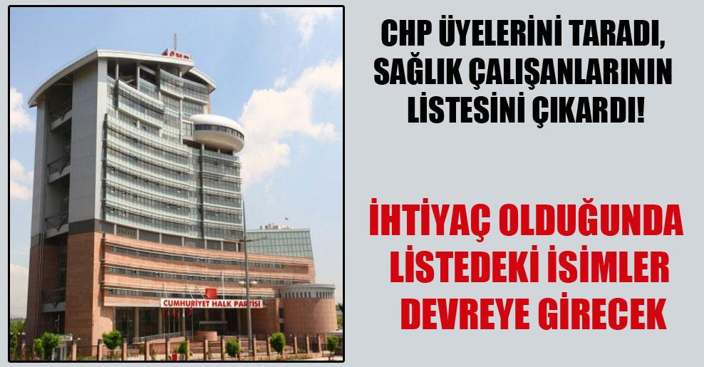 CHP üyelerini taradı, sağlık çalışanlarının listesini çıkardı!