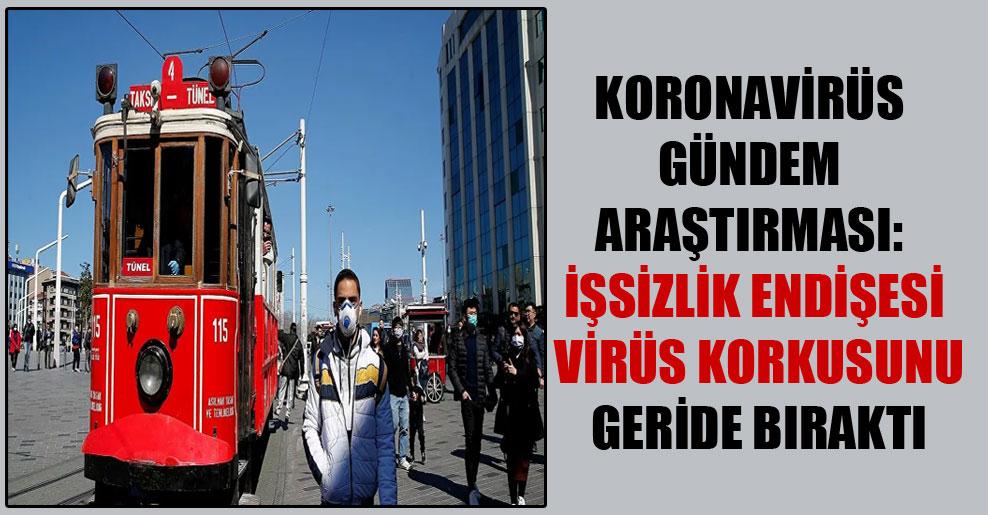 Koronavirüs Gündem Araştırması: İşsizlik endişesi virüs korkusunu geride bıraktı