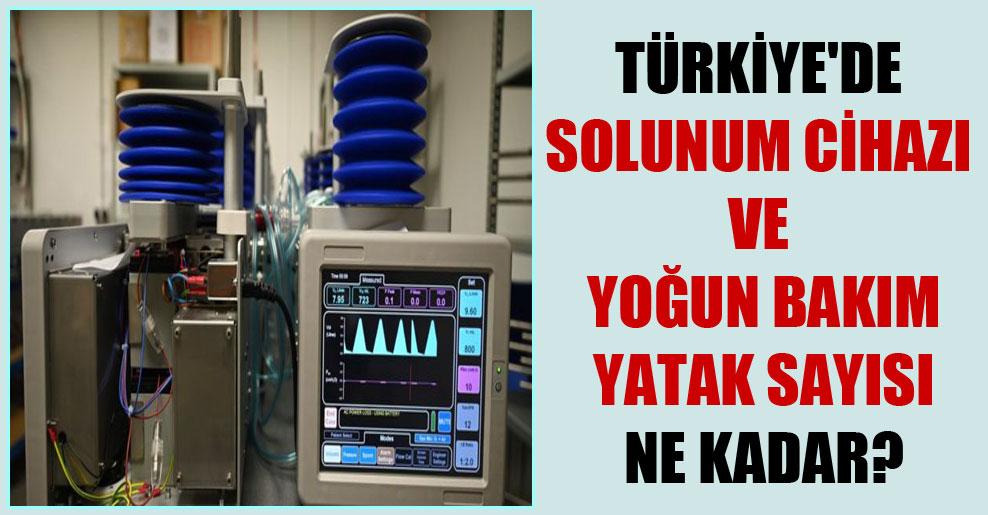 Türkiye'de solunum cihazı ve yoğun bakım yatak sayısı ne kadar?