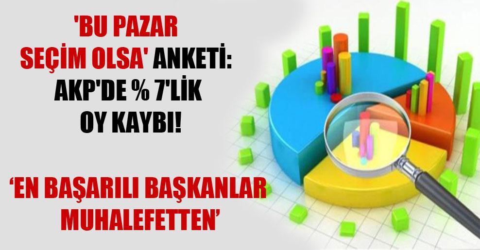 'Bu Pazar seçim olsa' anketi: AKP'de yüzde 7'lik oy kaybı!