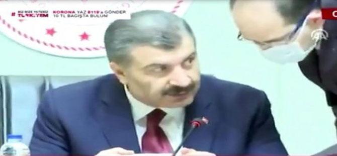 Bakan Koca'nın basın toplantısındaki 'Bana yaklaşma' sözleri sosyal medyanın gündeminde