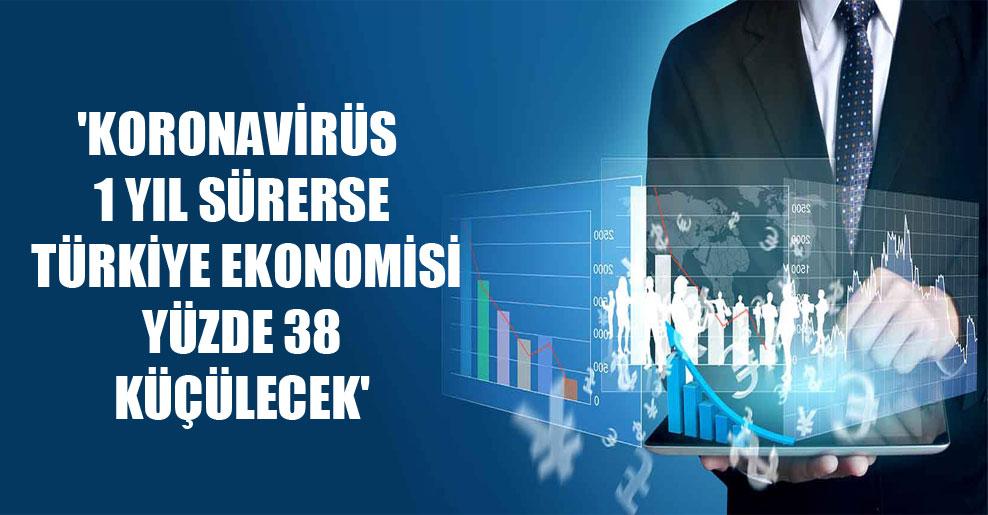 'Koronavirüs 1 yıl sürerse Türkiye ekonomisi yüzde 38 küçülecek'