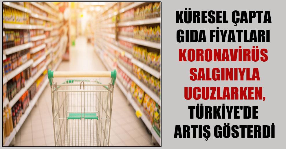 Küresel çapta gıda fiyatları Koronavirüs salgınıyla ucuzlarken, Türkiye'de artış gösterdi
