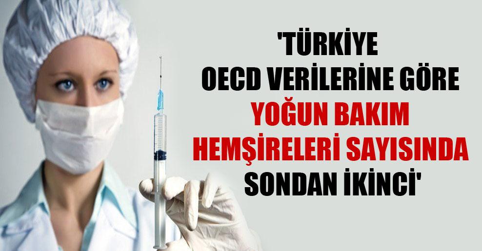 'Türkiye OECD verilerine göre yoğun bakım hemşireleri sayısında sondan ikinci'