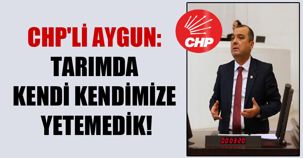 CHP'li Aygun: Tarımda kendi kendimize yetemedik!