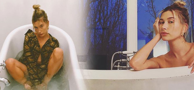 Justin Bieber eşinin banyo fotoğraflarını paylaştı