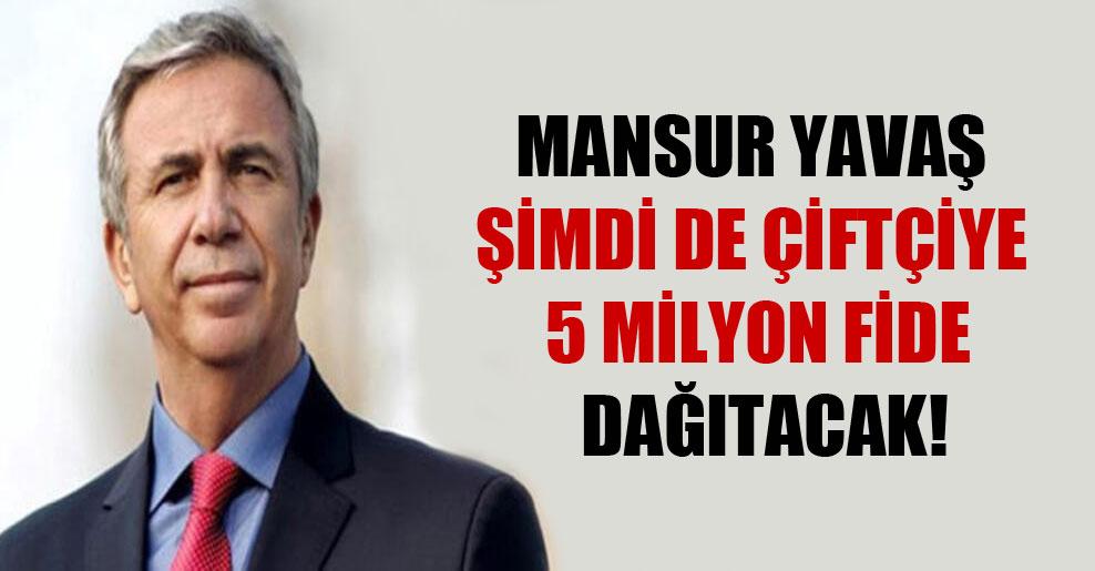 Mansur Yavaş şimdi de çiftçiye 5 milyon fide dağıtacak!