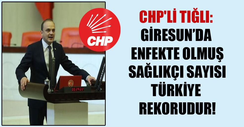 CHP'li Tığlı: Giresun'da enfekte olmuş sağlıkçı sayısı Türkiye rekorudur!