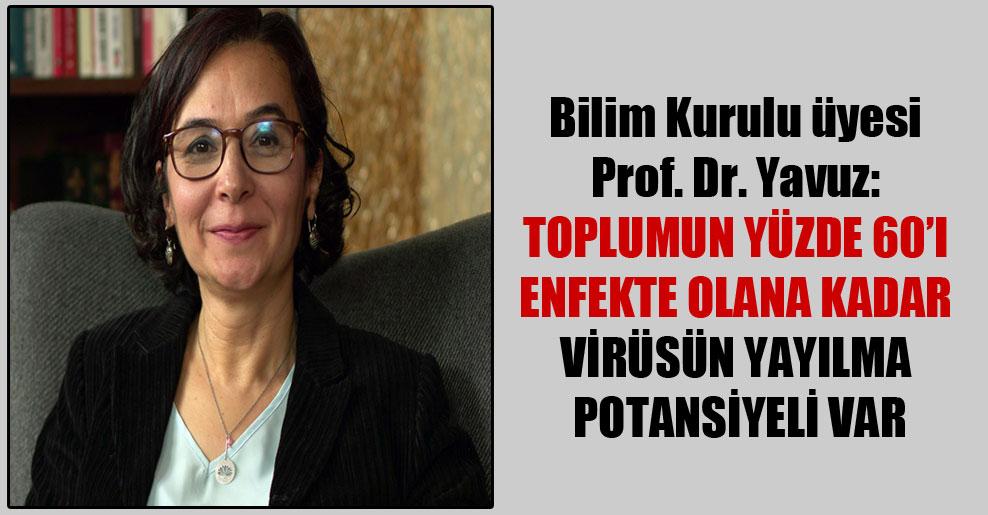 Bilim Kurulu üyesi Prof. Dr. Yavuz: Toplumun yüzde 60'ı enfekte olana kadar virüsün yayılma potansiyeli var