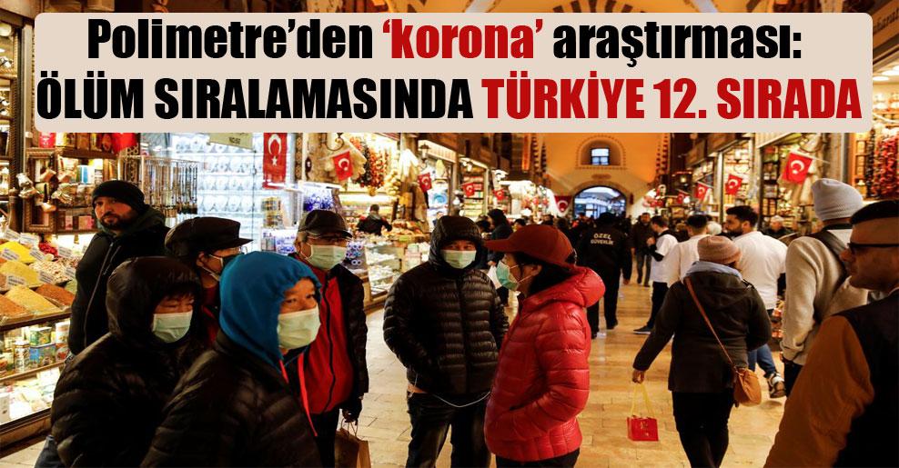 Polimetre'den 'korona' araştırması: Ölüm sıralamasında Türkiye 12. sırada