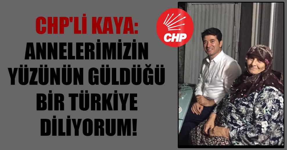 CHP'li Kaya: Annelerimizin yüzünün güldüğü bir Türkiye diliyorum!
