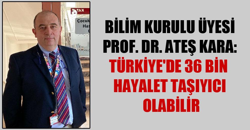 Bilim Kurulu üyesi Prof. Dr. Ateş Kara: Türkiye'de 36 bin hayalet taşıyıcı olabilir