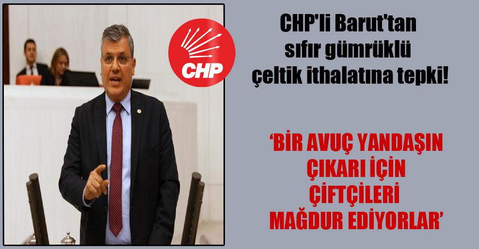 CHP'li Barut'tan sıfır gümrüklü çeltik ithalatına tepki!